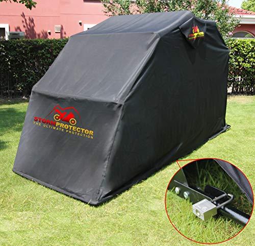 StormProtector Housse de Protection verrouillable pour Moto avec Cadre en Acier trempé Taille L