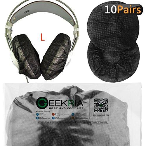 Fodere elastiche per cuscinetti cuffie, usa e getta, grandi, per cuffie AKG K701, Q701, Sennheiser HD900, HD800, HD650, Beyerdynamics DT880, DT990, 20 pezzi (10 paia), nere