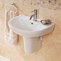 Moderno lavabo bagno a mano con Semi, piedistallo, con 1