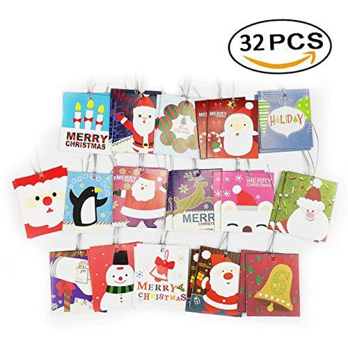 Boocy 320PCS biglietti natalizi con busta Lanyard Card