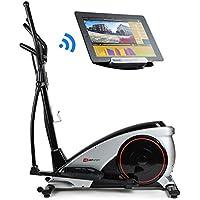 Preisvergleich für Hop-Sport Elliptical Crosstrainer HS-060C Ergometer Bluetooth, Smartphone Steuerung, 16 Widerstandsstufen, max. Benutzergewicht 150 kg, HRC, Watt, BMI