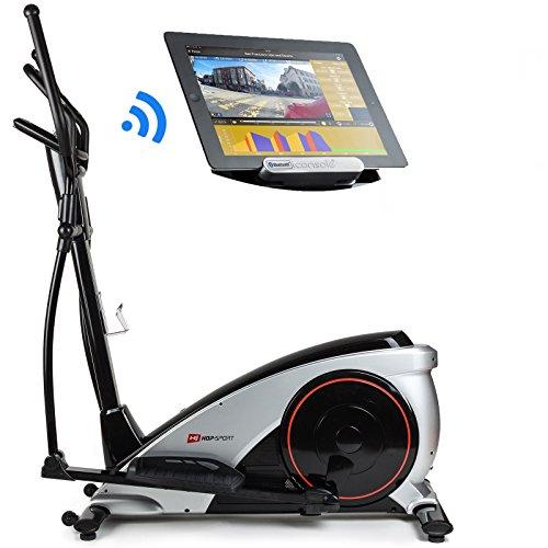 Hop-Sport Crosstrainer HS-060C Ergometer Elliptical Heimtrainer mit Bluetooth Smartphone Steuerung silber