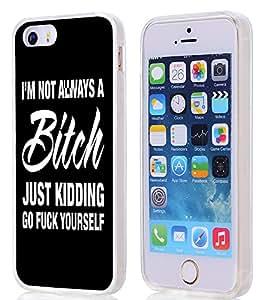 iPhone SE/5S/5 Case Bitch,iPhone SE & 5S & 5 Soft Clear TPU 360 Degree Protective Case W Bitch