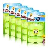 5x Mr.Proper Nachfüller Ambi Pur 5in1 Fresh Gardens WC-Stein flüssig, 3x55 ml