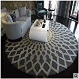 Hall floor mats Bathroom mats Nordic Fashion Carpet Black And White Round Carpet Living Room Coffee Table Large Carpet Bedroom Study Carpet Carpet Carpet Bathroom carpet Toilet mats ( Color : #1 , Size : 80cm )