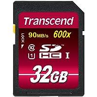 Transcend Ultimate-Speed SDHC Class 10 UHS-1 32GB Speicherkarte (bis 90MB/s Lesen) [Amazon Frustfreie Verpackung]
