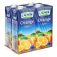 ‏‪Lacnor Essentials Orange Juice - 1 Litre (Pack of 4)‬‏