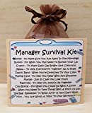 Manager Survival Kit - Unique Fun Novelty Gift & Card All In One