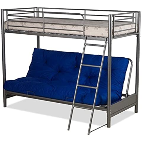 FUTON BUNK BED (COMPLETE WITH MATTRESSES) IN