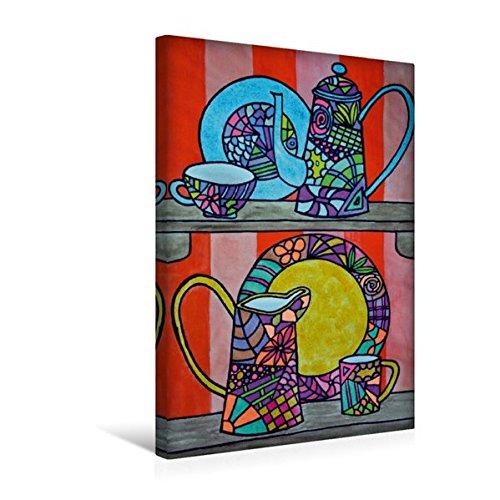 Calvendo Premium Textil-Leinwand 30 cm x 45 cm hoch, Ein Motiv aus Dem Kalender De Hessisch-Kalenner - hessisch babbele Lerne in aam Johr | Wandbild, Bild auf Leinwand, Leinwanddruck Kunst Kunst