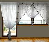 Balkon Fertiggardine aus Voile NEU Top Design SET Schöne Gardine AG24 A Modern