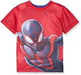 Marvel Spiderman Reversible, Camiseta para Niños, Azul (Blue 19-3952...