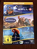 Disney 3er-DVD-Box WALL-E + Ratatouille + Merida