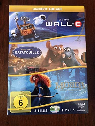 Disney 3er-DVD-Box WALL-E + Ratatouille + Merida gebraucht kaufen  Wird an jeden Ort in Deutschland