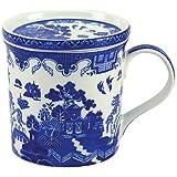 Leonardo Collection–Taza y Posavasos, diseño de porcelana, color azul