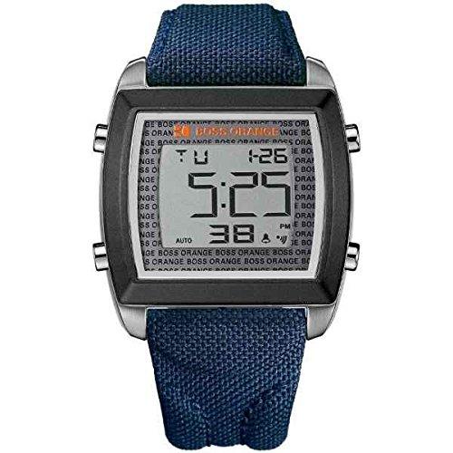 BOSS Orange 1512607-Uhr-Ritter-Bewegung Quarzo textiler mit Gurt Blau