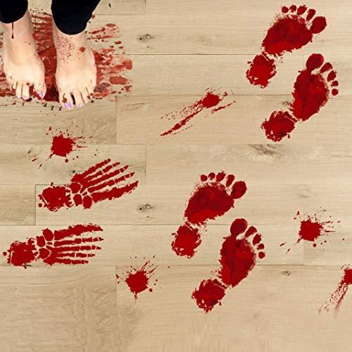 TIREOW_Halloween 1 Realistisch Wirkende Schaurig Blutige Sticker/Aufkleber Dekoration, Rot, Größe: 23x35cmx4pcs - 3