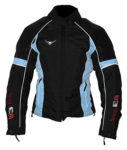 Protect Wear Chaqueta de Motorista, Textil chaqueta para mujer TJ de 712205de AC–Blue, talla 36/38