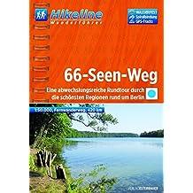 Hikeline Fernwanderweg 66-Seen-Weg, Eine abwechslungsreiche Rundtour durch die schönsten Regionen rund um Berlin, 1:50.000, 420 km, wasserfest, GPS-Tracks-Download