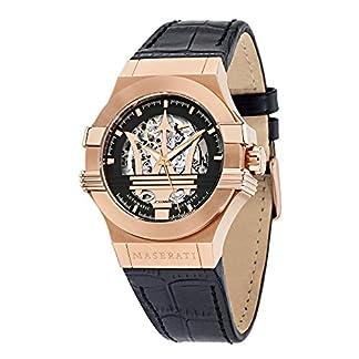 Reloj para Hombre, Colección Potenza, Movimiento mecánico automático, Solo Tiempo, en Acero y Cuero – R8821108002