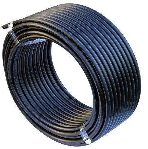 EXCOLO PE-HD Rohr Wasserrohr Wasser Leitung Kunststoffrohr Bewässerung Wasser Rohre schwarz (20mm x 25Meter)