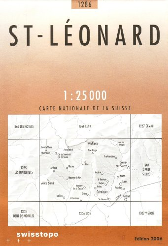 Swisstopo 1 : 25 000 St-Léonard (Landeskarte Der Schweiz)