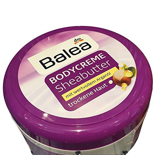 Balea Bodycreme Sheabutter mit wertvollem Arganöl für Trockenne Haut (500ml)