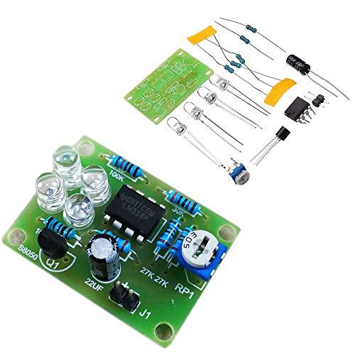 BouBou 5Pcs Lm358 Kit Per La Produzione Elettronica Di Lampade Flash Blu Led Fai Da Te A Luce Respiratoria Elettro
