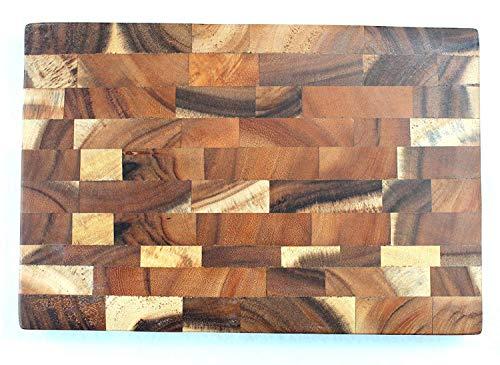 dekoundmeer Schneidebrett rechteckig Holz 30 x 20 x 3 cm Stirnholz Akazie