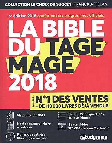 La Bible du TAGE MAGE® - 8e édition 2018 - Visez plus de 500 - Fiches - Tests blancs - Plus de 2000 questions + Vidéos