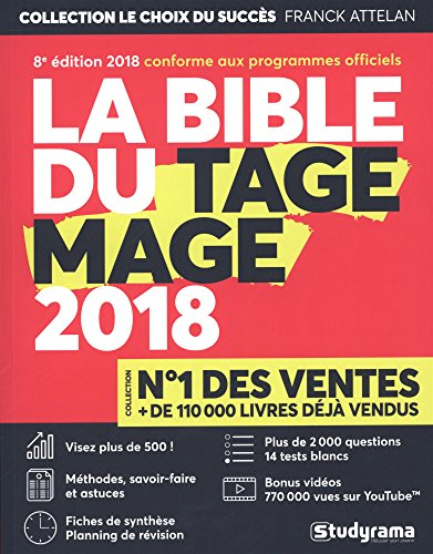 La Bible du TAGE MAGE - 8e dition 2018 - Visez plus de 500 - Fiches - Tests blancs - Plus de 2000 questions + Vidos