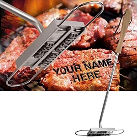 BBQ Barbecue Grill Branding Iron with 55 Removable Letters DIY Meat Steak Burger BBQ Tool Set