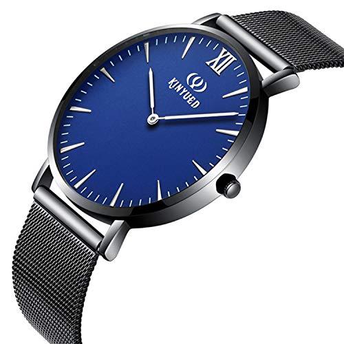 YUNDING Armbanduhr, Ultraflaches Edelstahlgehäuse Der Spitzenklasse, Schweizer Uhrwerk/Präzisionsquarzwerk, Geschenk