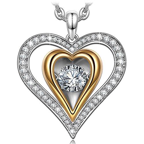 Dancing heart regalo per la festa della mamma confessione di amore collana donna in argento 925 fidanzamento anniversario compleanno san valentino festa della mamma regali per fidanzata matrimonio