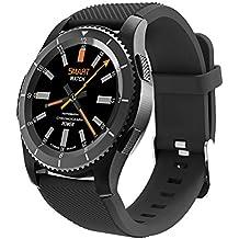 Bluetooth Smart Watch,QIMAOO 1.3 Zoll Sport Smart Handy Uhr Telefon Fitnessarmband mit Kamera SIM / TF Karten Slot Pedometer Touch Screen für iPhone Android IOS System Smartphone