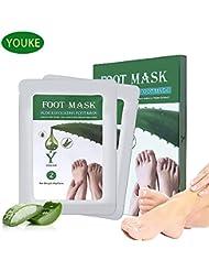 Fuß Peeling Maske Peeling High-Effekt Aloe 2 Paar In einer Box, lassen Füße Haut weich und glatt