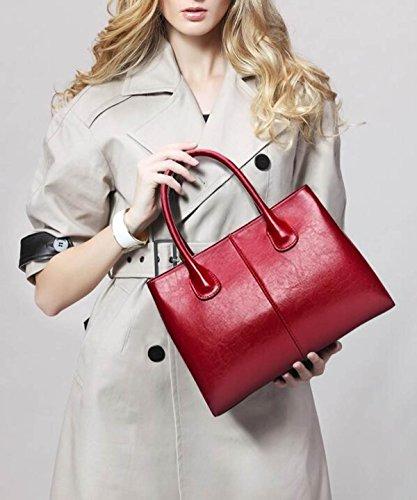 Damen Handtaschen Handtaschen Öl Wachs Leder Leder Handtaschen B
