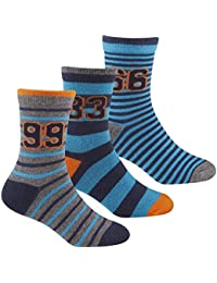 Zest Boys Multi Striped Cotton Rich Socks