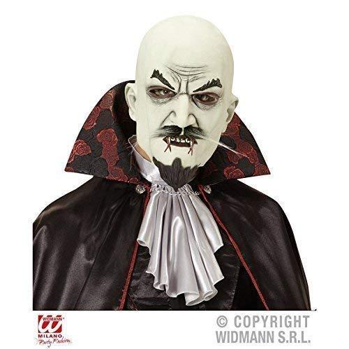Lively Moments Vampir Maske / Vollmaske mit Bart / Halloween / Kostümzubehör