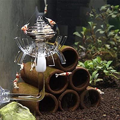 Balacoo Garnelen-Futterschale aus transparentem Acryl-Kristall, für Garnelen, Futterschale für Aquarien, Wurm, Reptilien, Zubehör