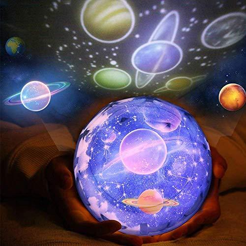 TianranRT Nacht Licht Baby Projektor Lampe 360 Grad Drehen Sternenhimmel Led Projektor Lightin