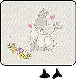wolga-kreativ 2 Stück Auto SonnenSchutz SonnenBlende Hase Hasenfamilie für Baby und Kind Autofenster Sonnenschutz (Doppelpack)