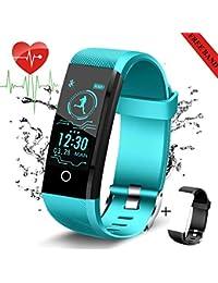 LIGE Fitness Trackers con Monitor de Ritmo cardíaco,Rastreador de Actividad Reloj Podómetro,Contador