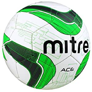 Mitre Ace Recreational Football - White/Grey/Green, Size 5