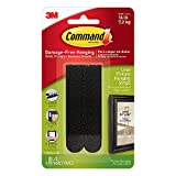 #3: Command Large Picture Hanging Strip(Black, Pack of 4)