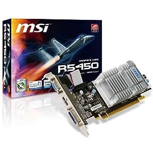 MSI R5450-MD1GH/D2 Carte graphique Radeon HD 5450 PCI Express 2.1 x16 1 Go DDR2 DVI / HDMI