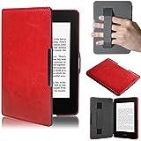 Amlaiworld per Kindle Paperwhite, Premio Copertura astuta di Cuoio Ultra Sottile per Il Nuovo Amazon Kindle Paperwhite 5 (Rosso)