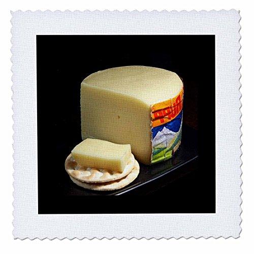 3dRose Nahaufnahme von Brick Käse N Cracker, Quilt, Platz, 6von 6(QS 80466_ 2) (N Cracker Käse)