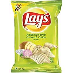 Lays Potato Chips - American Style Cream & Onion Flavour (Party Pack), 177g Pouch