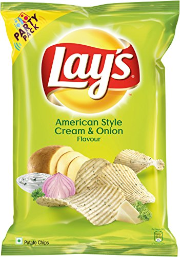 Lay's Potato Chips – American Style Cream & Onion Flavour (Party Pack), 177g Pouch